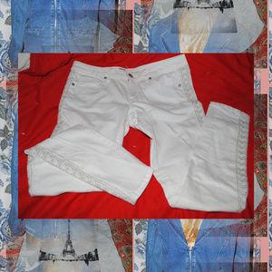 MASSIMO White Skinny Embellished Jeans Sz 6